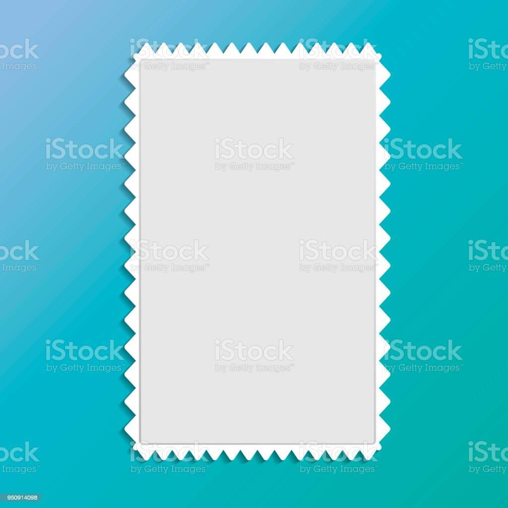 Vector Post Stamp Icon Blank Frame For Stamp Stock Vector Art & More ...