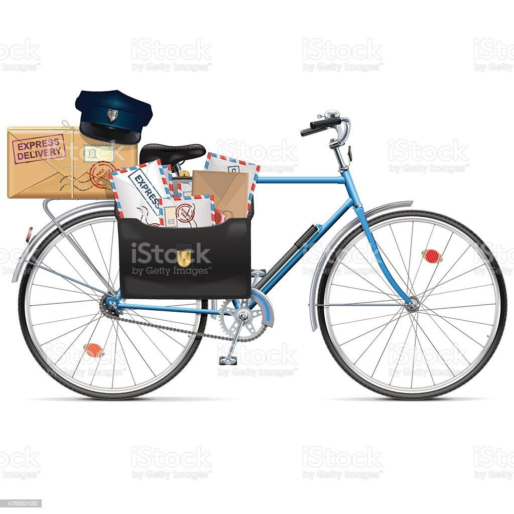 Vector Postal Bicycle vector art illustration