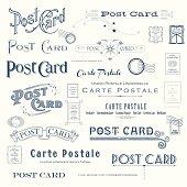 Vector Postcard Design Elements