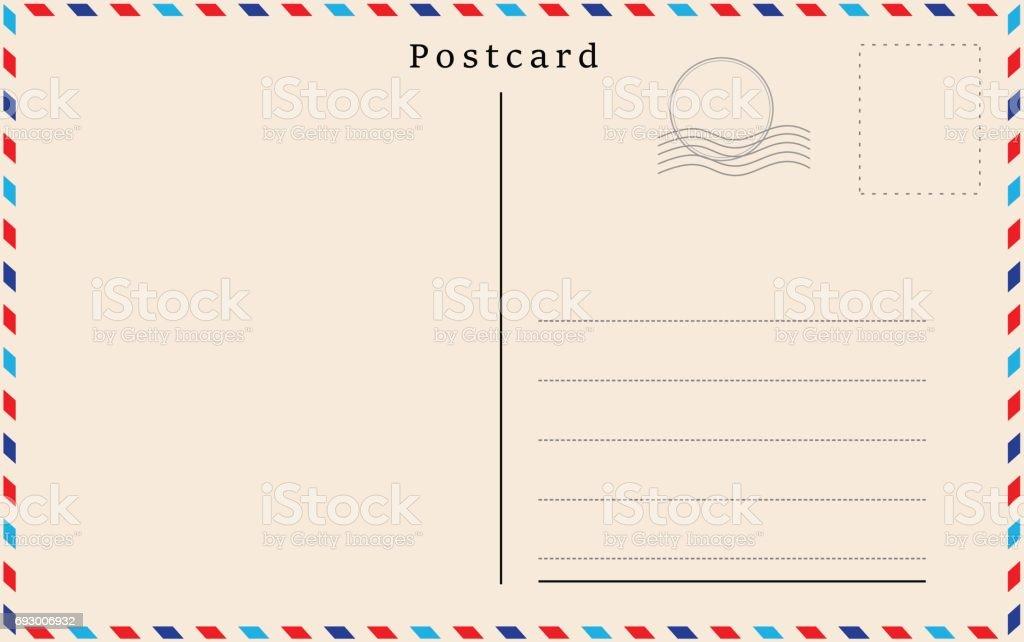 Vector postcard with beige paper texture vector art illustration