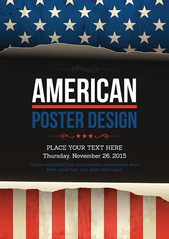 U.S.A vector poster design