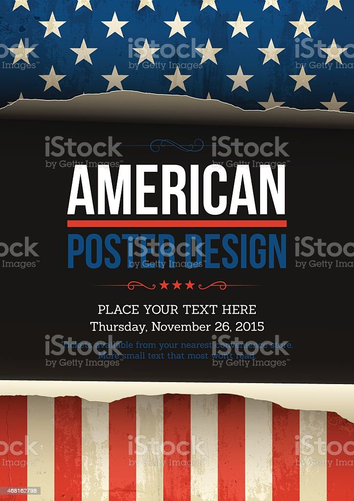 U.S.A vector poster design vector art illustration