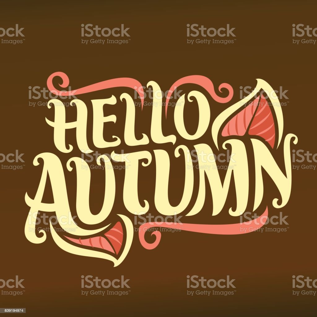 Vector poster for Autumn season vector art illustration