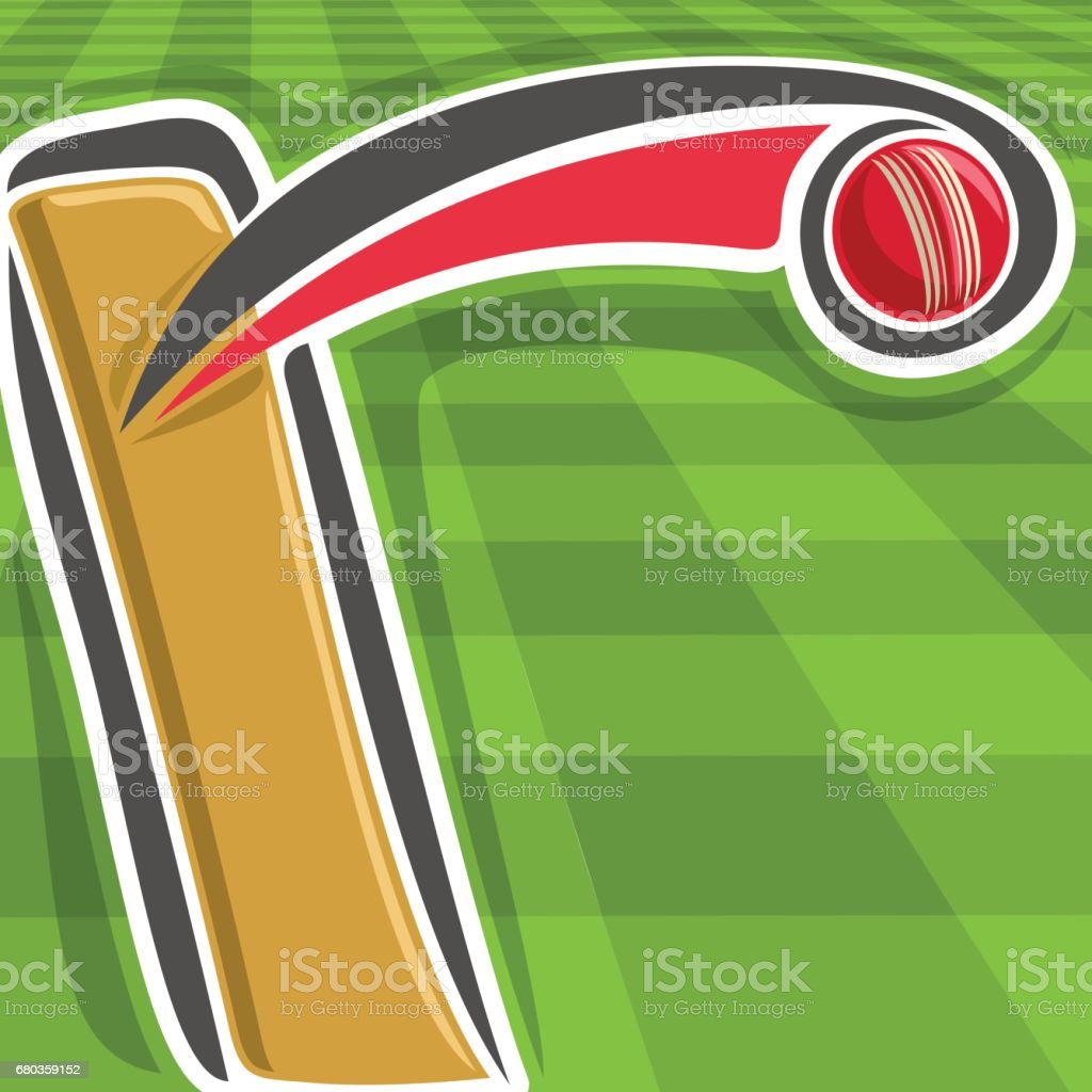 Vector poster for Cricket sport