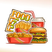 Vector poster for Fast Food