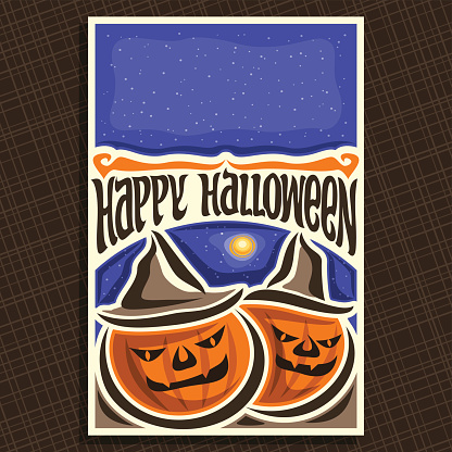 Vector poster for Halloween holiday