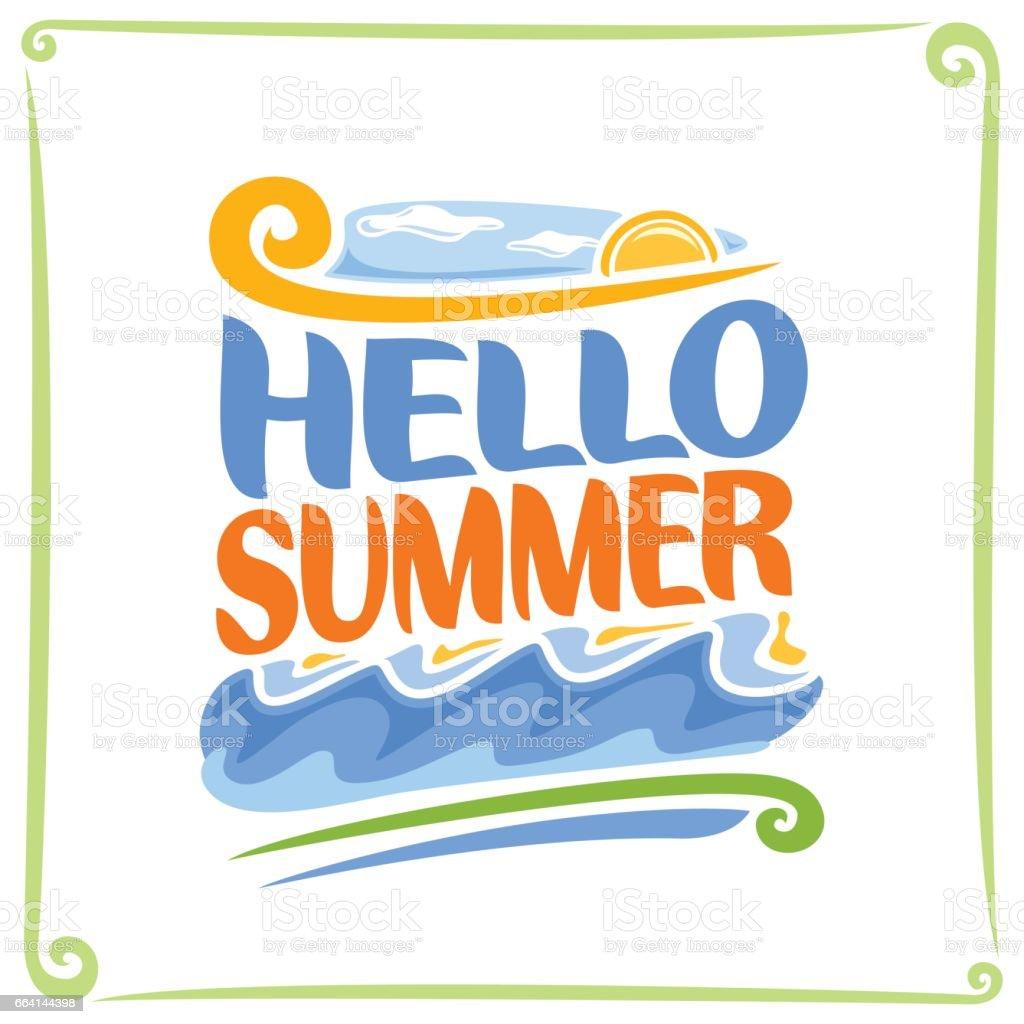 Cartel de vector para el verano - ilustración de arte vectorial