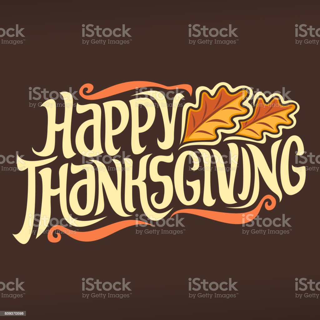 Vector poster for Thanksgiving holiday vector art illustration