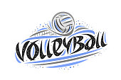 Vector poster for Volleyball