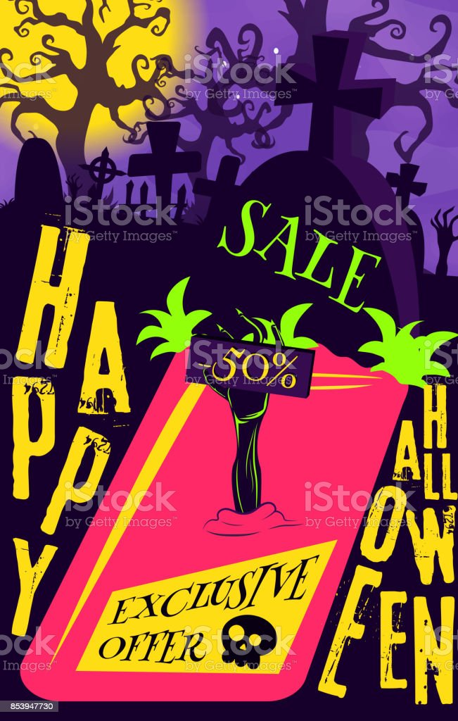 vector poster halloween sale for your promotion in the store print
