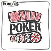 Vector poster of holdem Poker