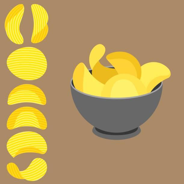 Vector potato chips – artystyczna grafika wektorowa