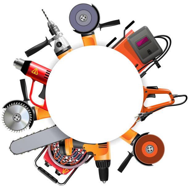 Vector Power Tools Round Frame – Vektorgrafik