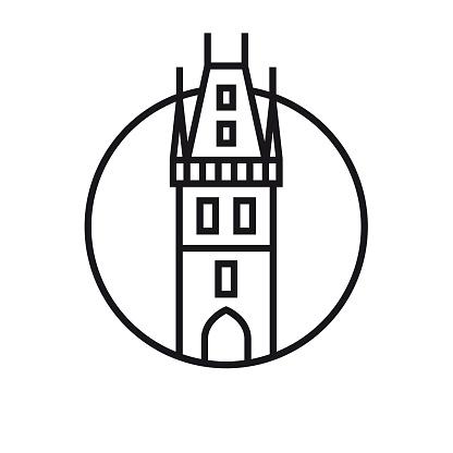 Vector Prague - Outline Icon
