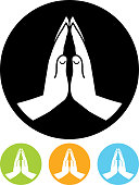 Vector Praying hands icon