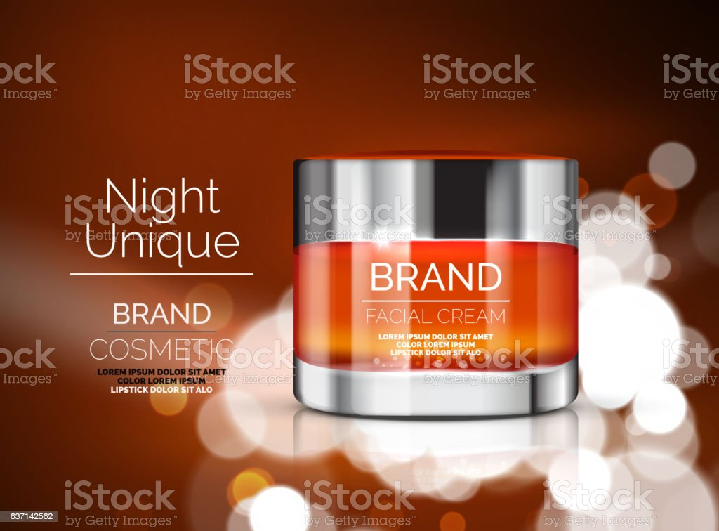 Vector premium cream ads vector art illustration