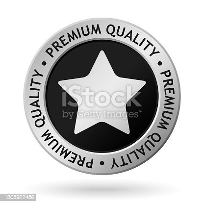 istock vector premium quality silver medal 1305922456