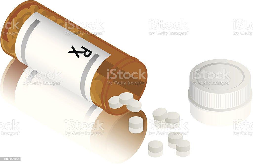 Vector Prescription Bottle Opened royalty-free stock vector art