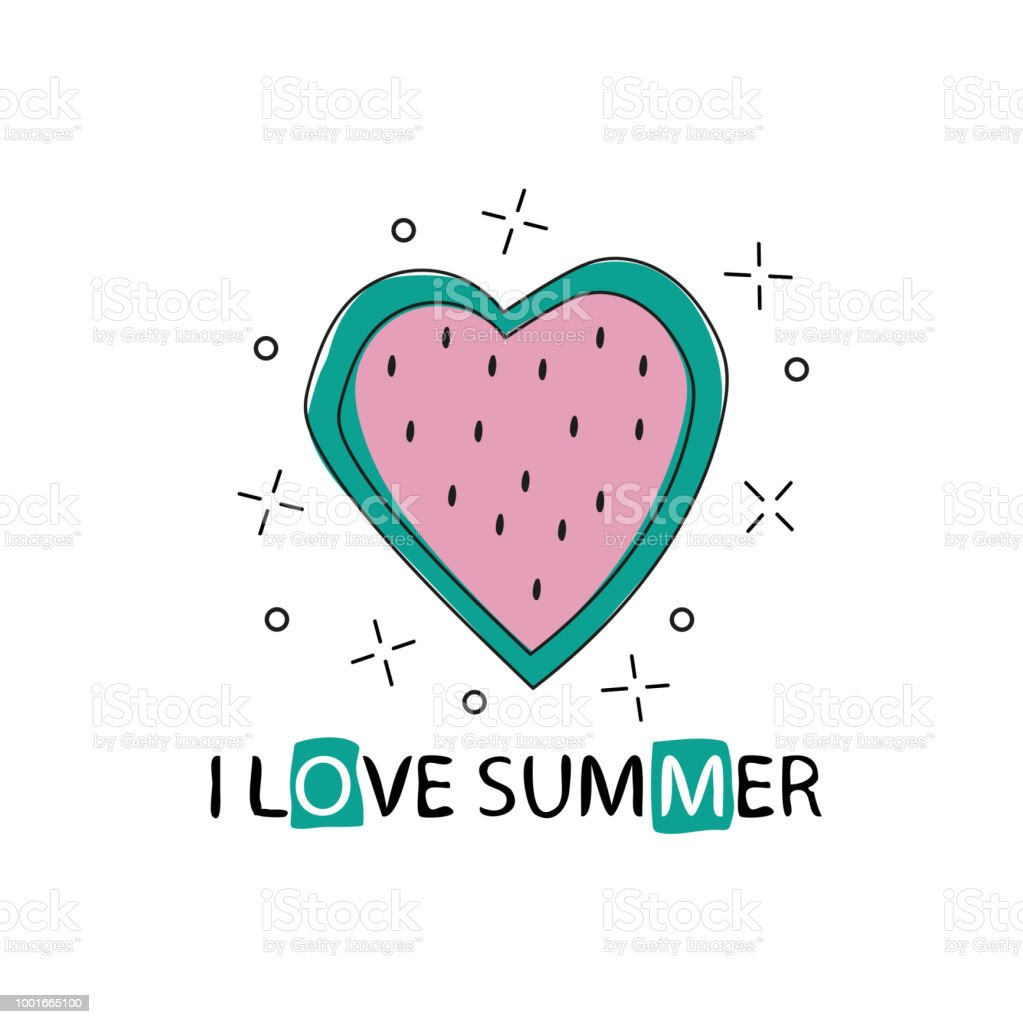 picture relating to Lettering Printable called Vector Print With Watermelon And Lettering I Get pleasure from Summer season Printable Banner Inventory Example - Obtain Graphic Presently