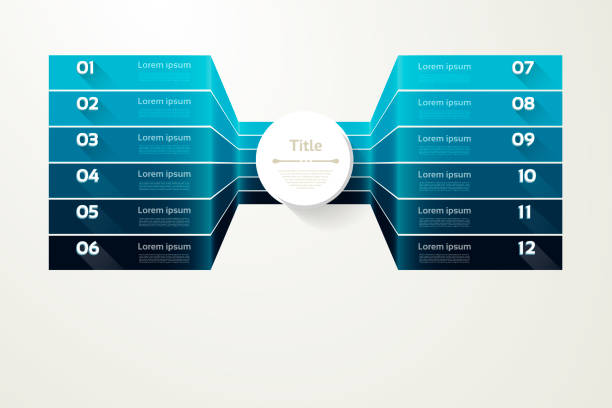 vector progress background. template for diagram, graph, presentation and chart. business concept with 12 options, parts, steps or processes. abstract background. eps 10 - klawisz option stock illustrations