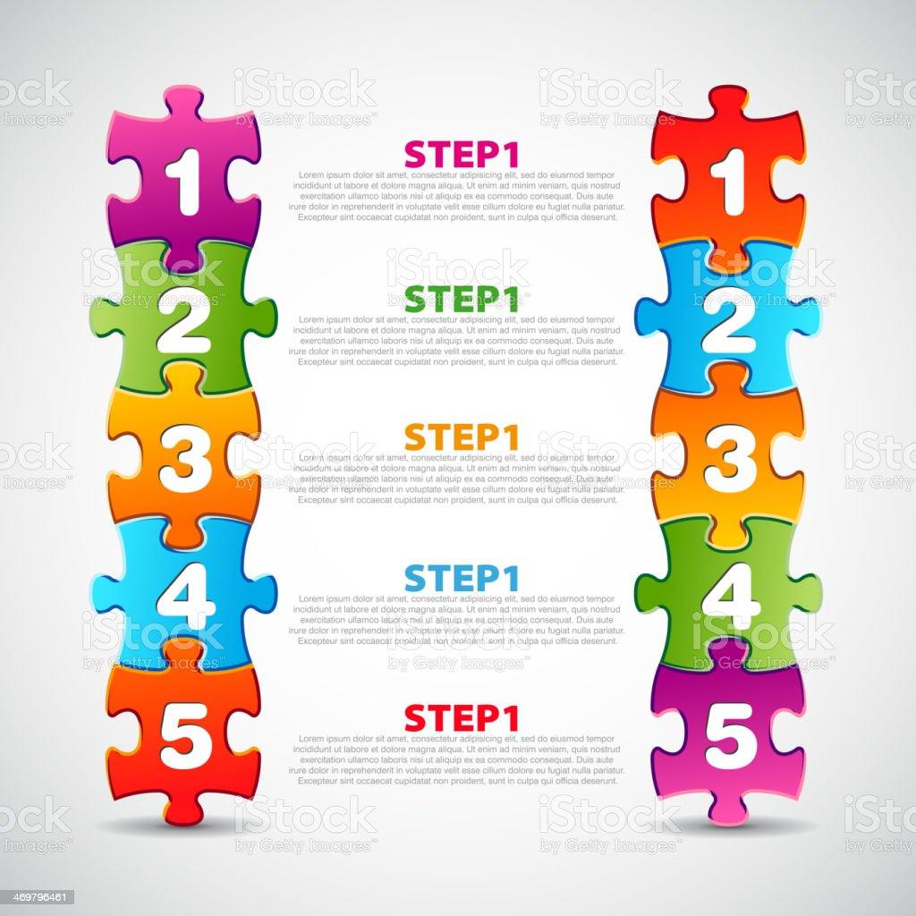 Vector progress icons for three steps royalty-free stock vector art