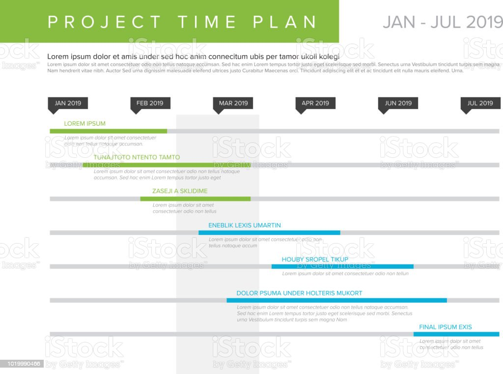 vector project time plan gantt graph stock vector art more images
