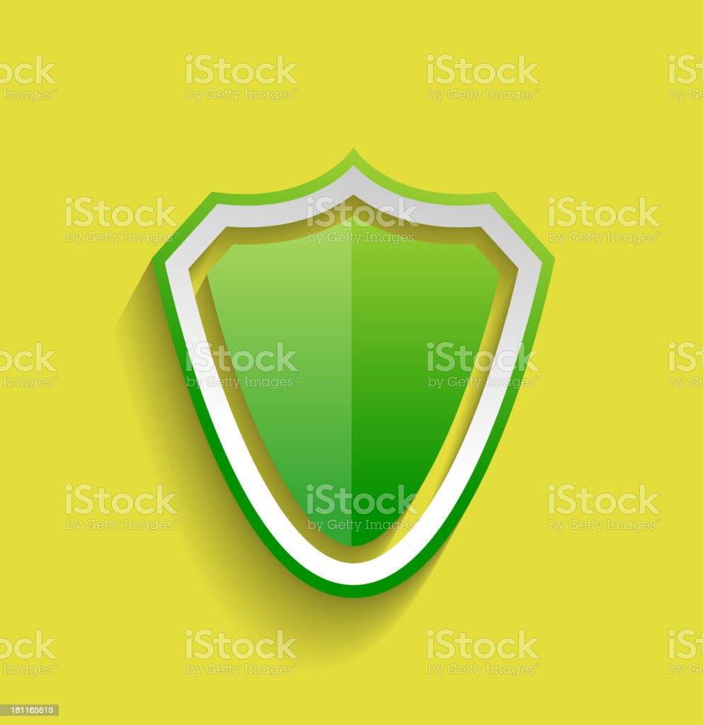 Vector protection shield flat icon royalty-free stock vector art