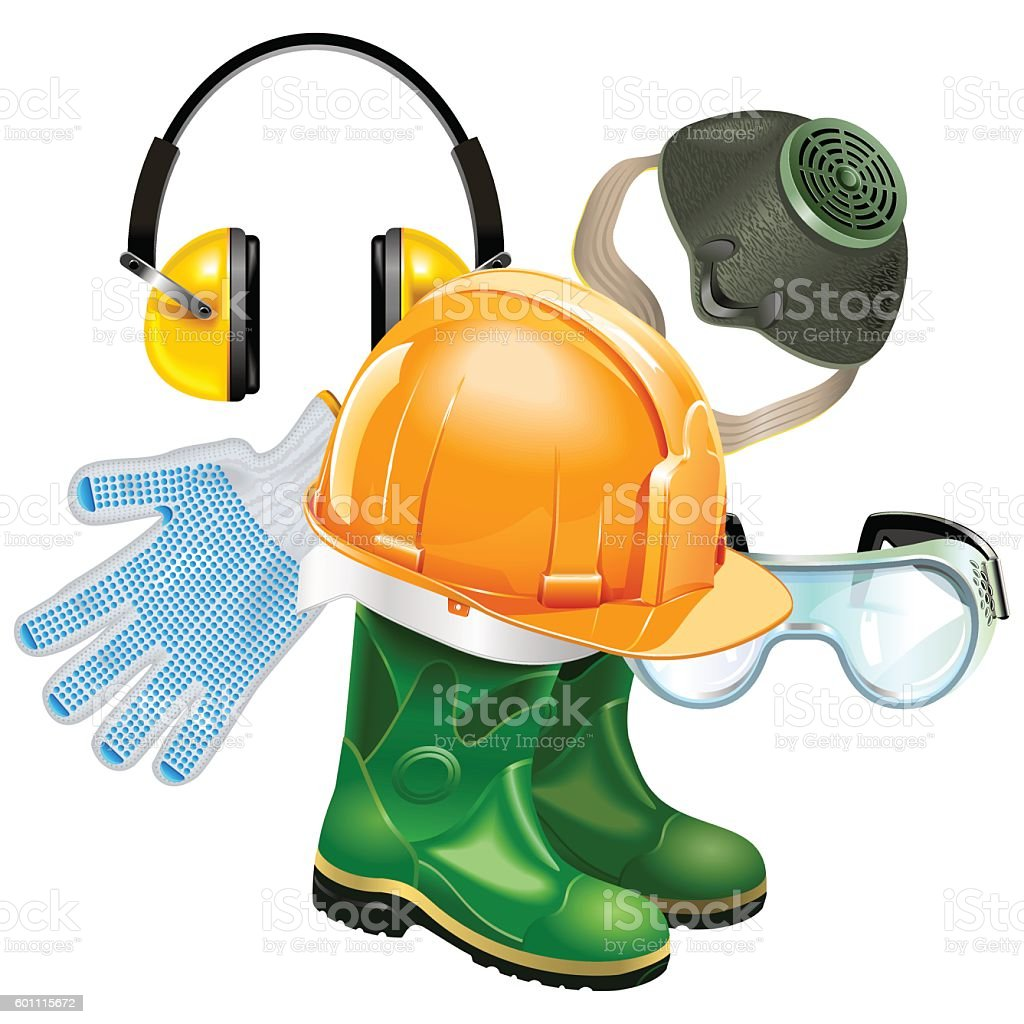 Vector Protective Equipment Concept vector art illustration