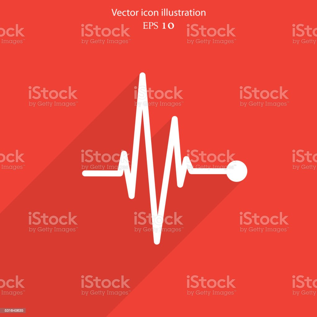 Vector pulse icon. Heart beat, cardiogram. vector art illustration