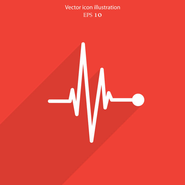 vector pulse icon. heart beat, cardiogram. - ecg stock illustrations, clip art, cartoons, & icons