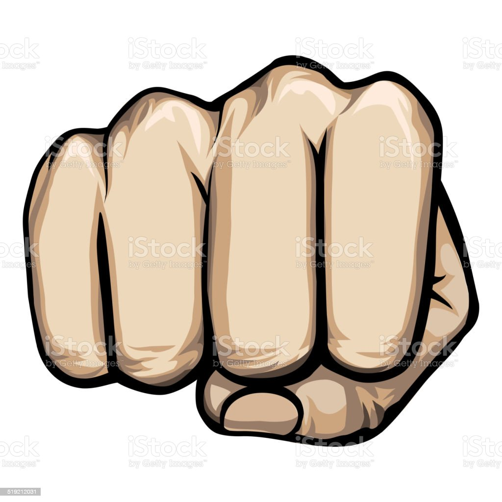 vector punching hand vector art illustration