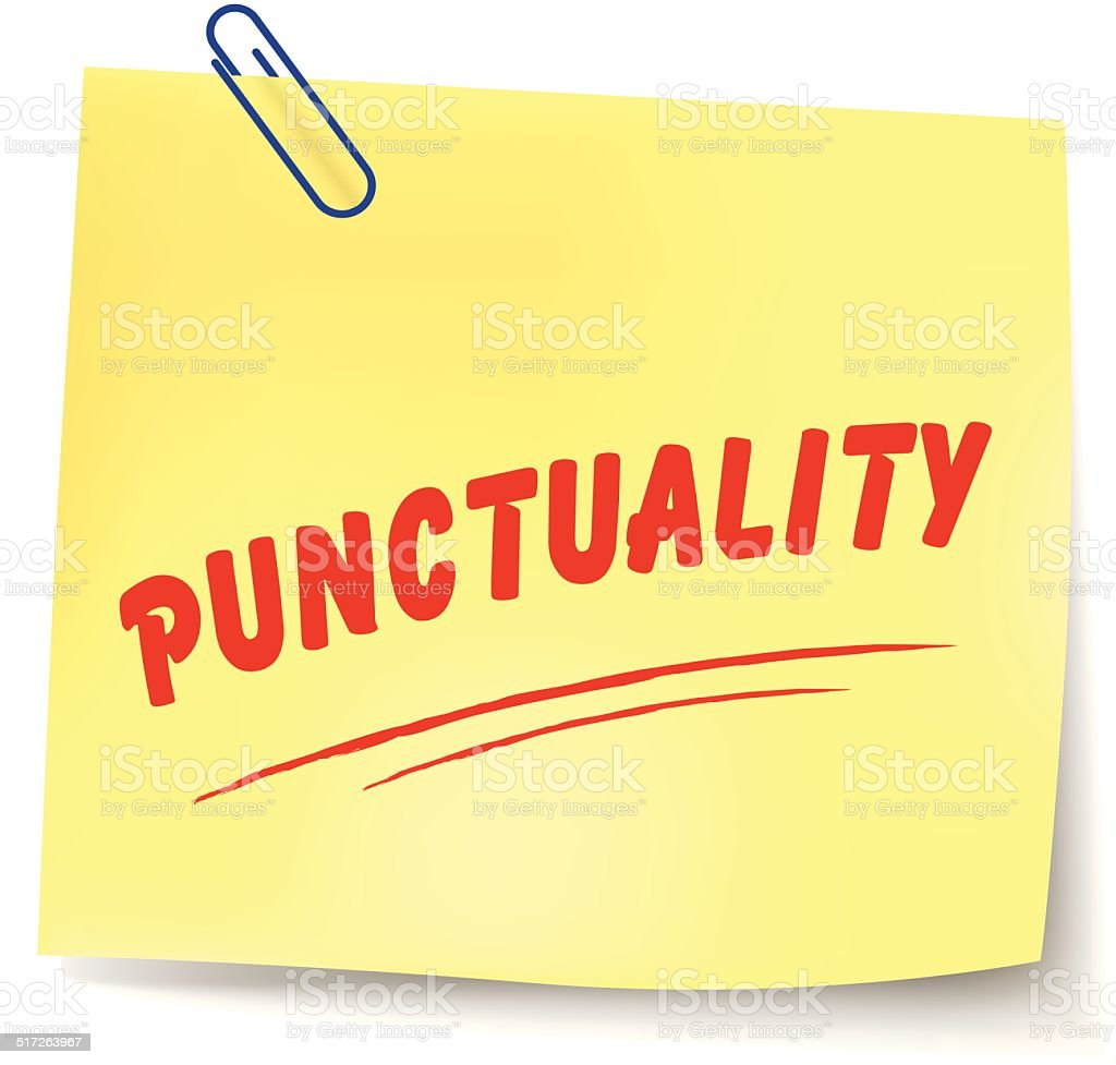 Vector punctuality message vector art illustration
