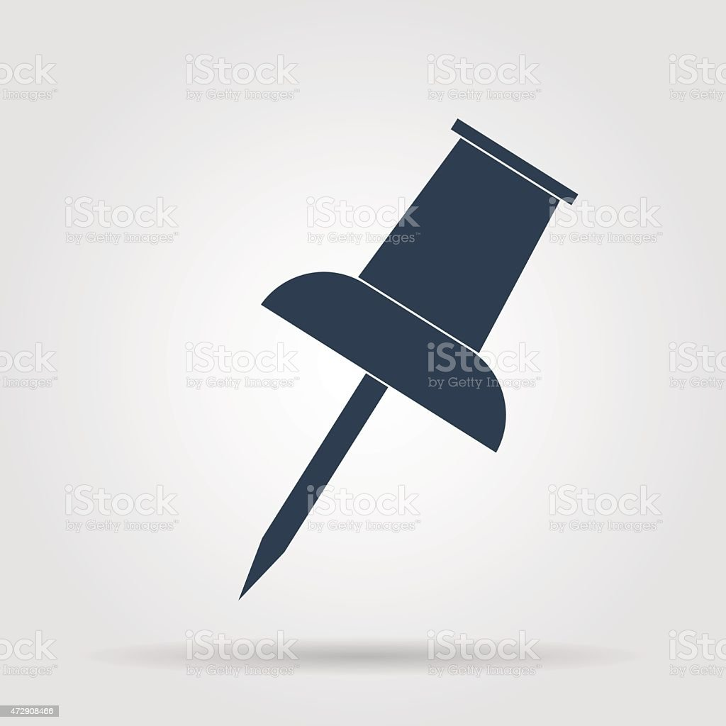 Vector push pin icon vector art illustration