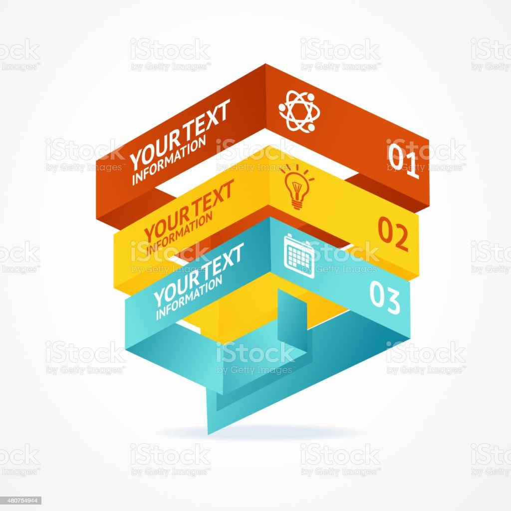 Ilustración de Pirámide De Vector Isométrica Plantillas Con Las ...