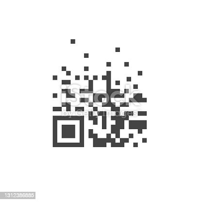 istock Vector qrr code on white isolated background. 1312386885