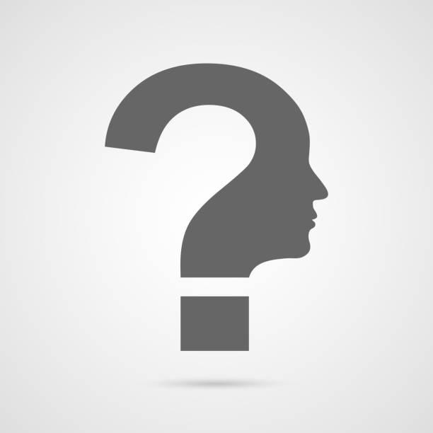 Vector question mark human head symbol. vector art illustration