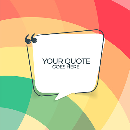 Vector quote template trendy style stock illustration. Colorful background illustration