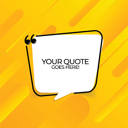 Vector quote template trendy style stock illustration