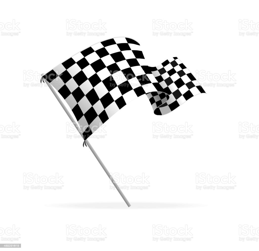 Vector Racing flag vector art illustration