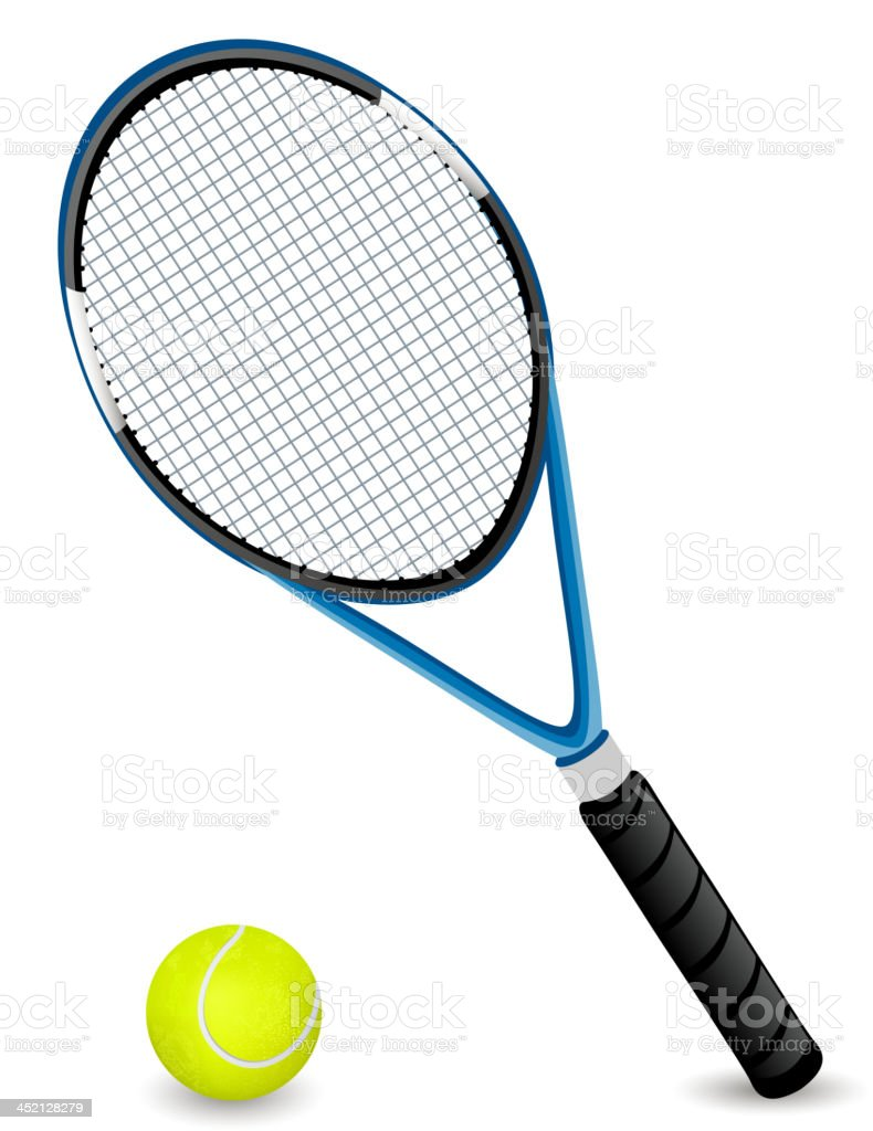 Vector Racket and a Ball vector art illustration