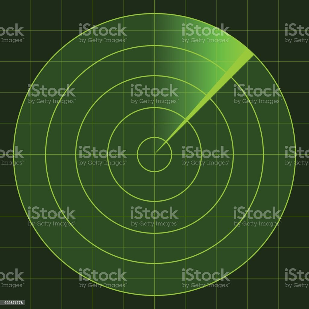 vector radar screen vector art illustration