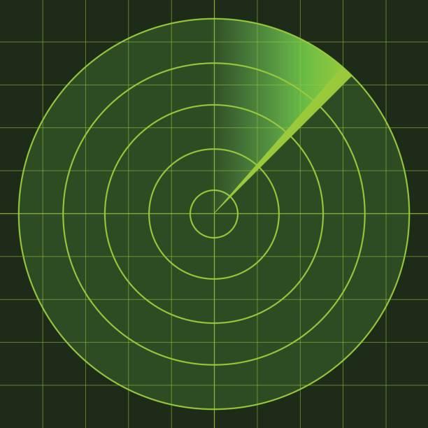 vector radar screen - radar stock illustrations