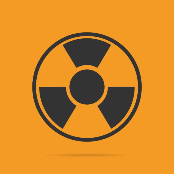 Vektor Strahlung Warnsymbol Zeichen – Vektorgrafik