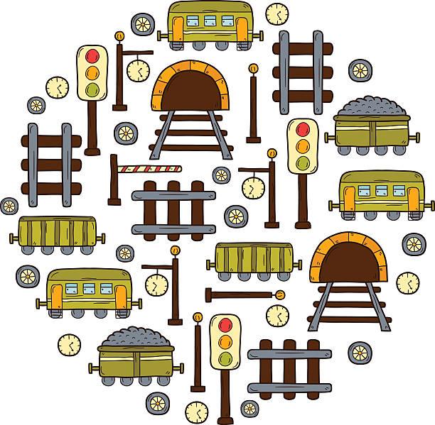 illustrazioni stock, clip art, cartoni animati e icone di tendenza di sfondo vettoriale railroad - subway