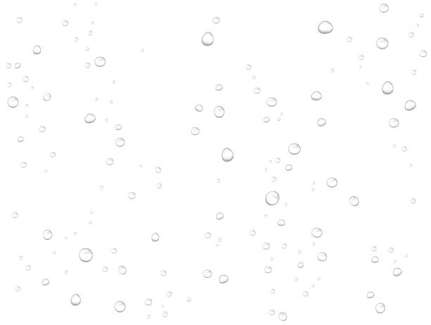 ベクトル雨の水は白の背景にドロップします。凝縮したピュアなリアルな液滴。 - 水滴点のイラスト素材/クリップアート素材/マンガ素材/アイコン素材
