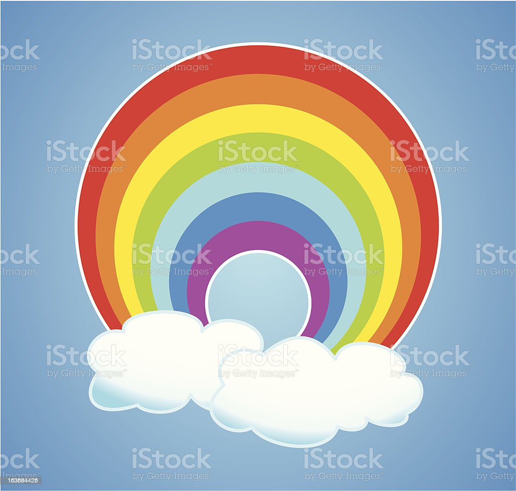 vector rainbow and clouds royalty-free vector rainbow and clouds stock vector art & more images of abstract