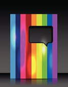 Vector rainbow brochure