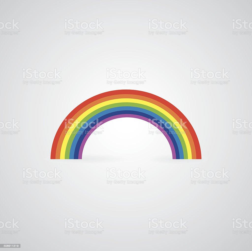 vector rainbow vector art illustration