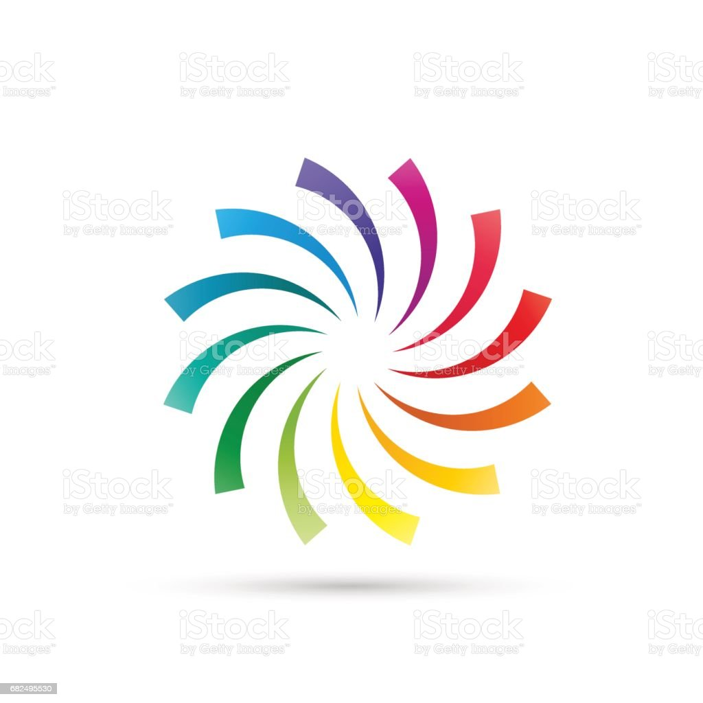 Vector Rainbow Vortex Background royalty-free vector rainbow vortex background stock vector art & more images of abstract