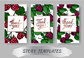 Vector Raspberry healthy food isolated. Black and white engraved ink art. Wedding background card decorative border. Thank you, rsvp, invitation elegant card illustration graphic set banner.